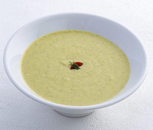 別府温泉 地獄蒸し ブロッコリーのクリームスープ